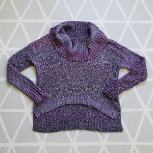 American Eagle Chunky Knit Cowl Neck Ombre Sweater
